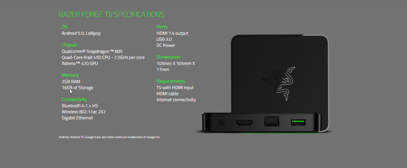 Razer Forge TV - Android™ Gaming in Your Living Room