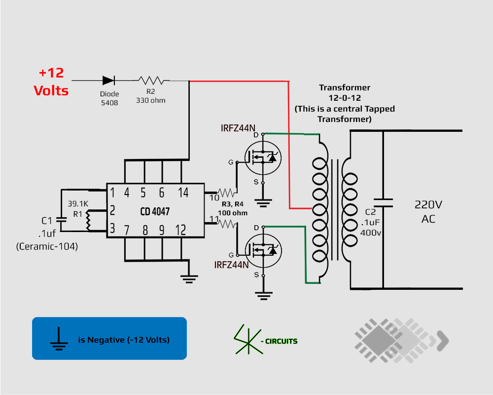 12v To 220v Inverter Circuit Diagram Pdf Wiring Library Simple Refrigerator Door Alarm Eleccircuitcom