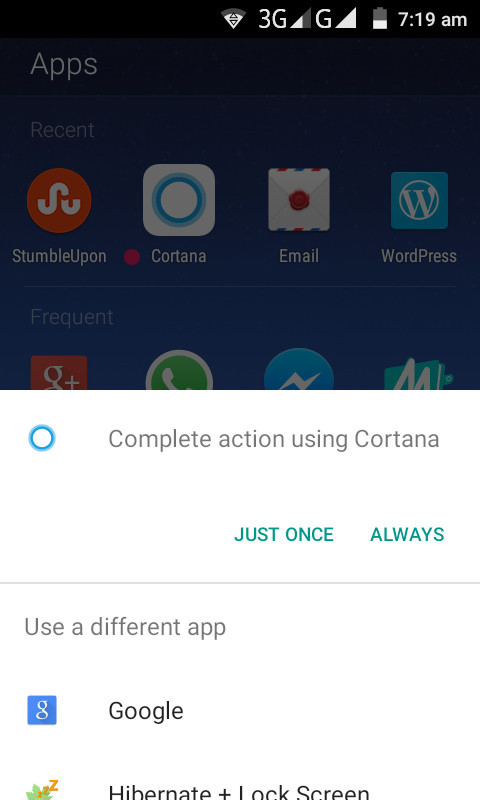 Cortana / Running on Arrow launcher