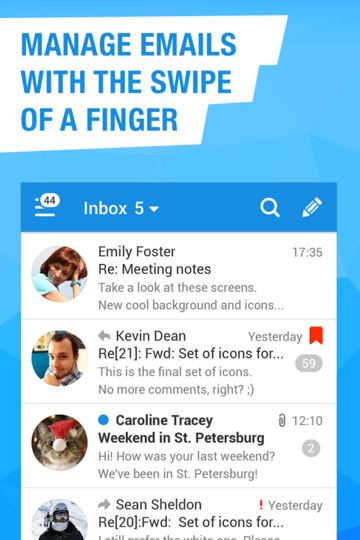 mail.ru for android - best email apps