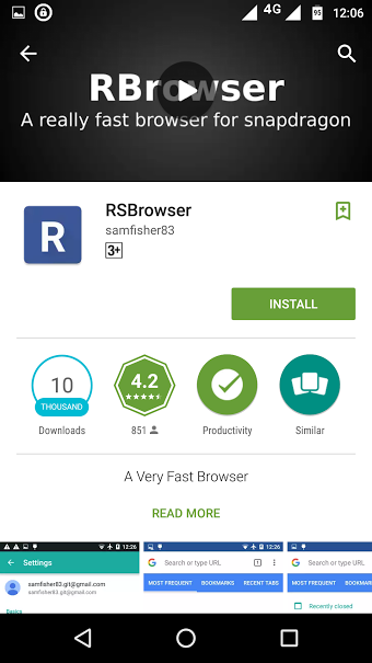 rsbrowser - best android browsers