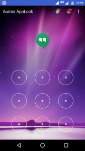 Aurora app locker UI