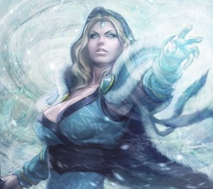Crystal Maiden- a Dota 2 female character