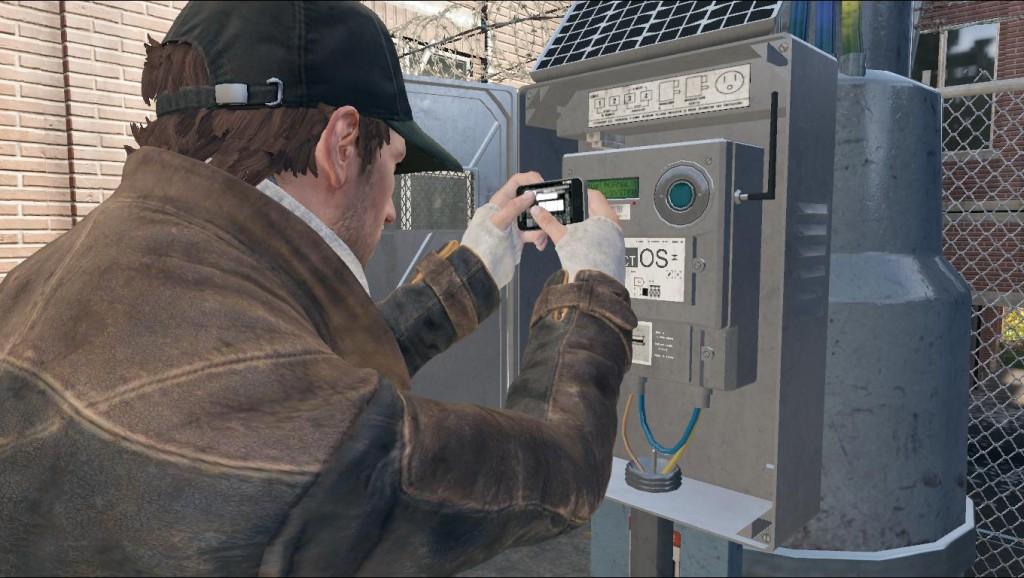 Aiden unlocking a CtOS tower