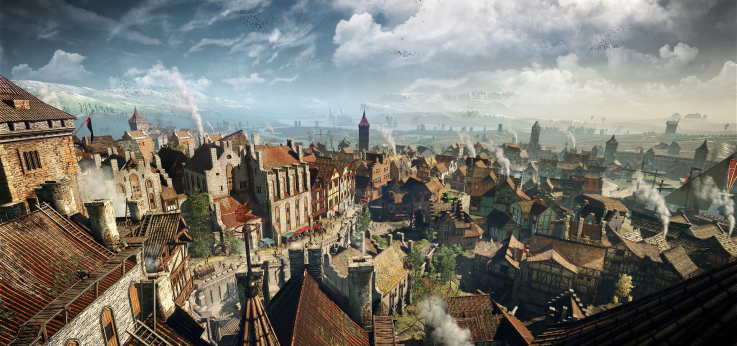 Teeming metropolis hubs in The Witcher 3