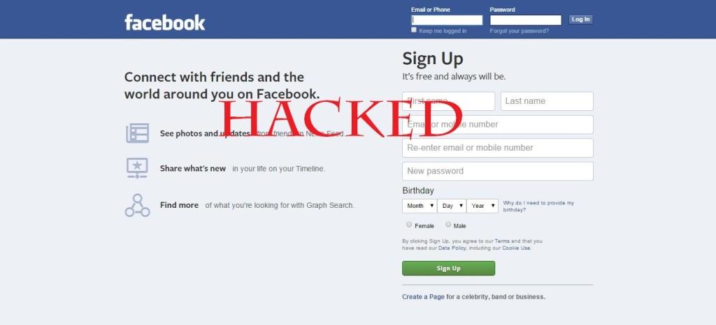 facebook compromised