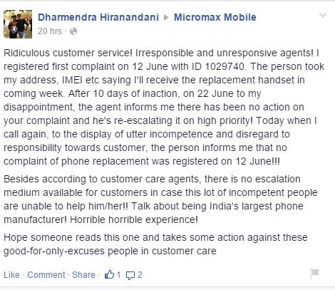 Can Micromax step into the world market with it's poor quality customer service? 3