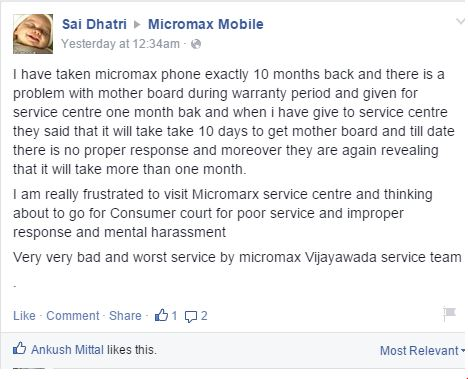 Can Micromax step into the world market with it's poor quality customer service? 4