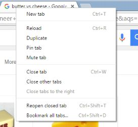 google chrome pin tab