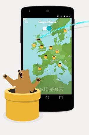 top android vpn apps - TunnelBear vpn app