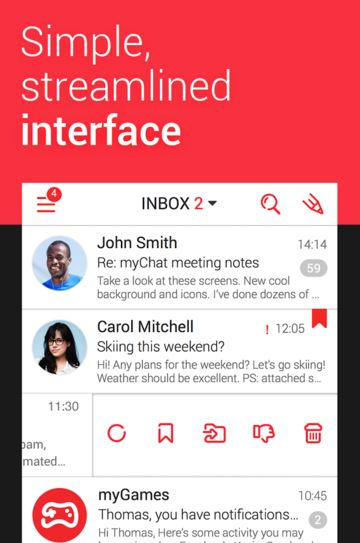 mymail - best free email app for android