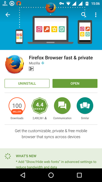 mozilla firefox - android browsers
