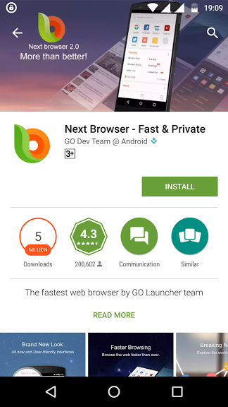 next browser - best android browsers