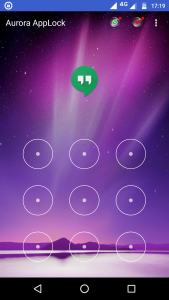 Aurora app locker UI