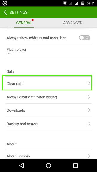 dolphin data clear data