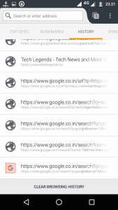 mozilla firefox - clear history on Android
