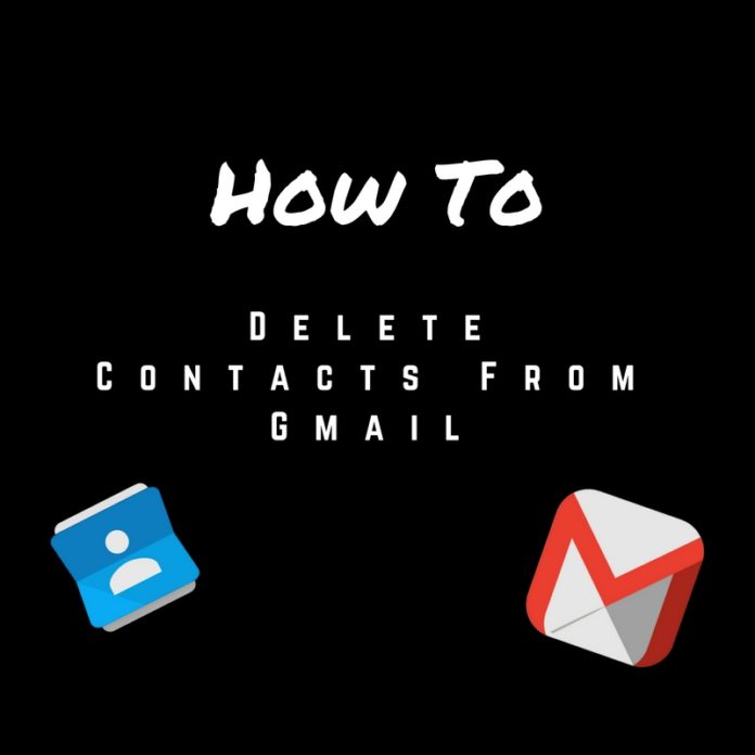 delete contacts from gmail