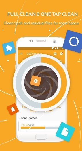 360 security - android phone cleaner apps