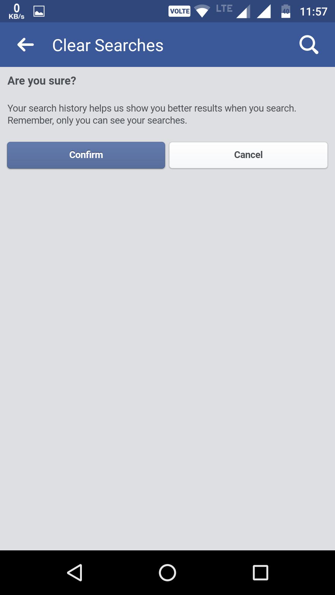 facebook search history delete