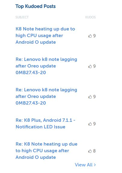 Lenovo Restricted Their Community Forum After A Messy Android O Update 1