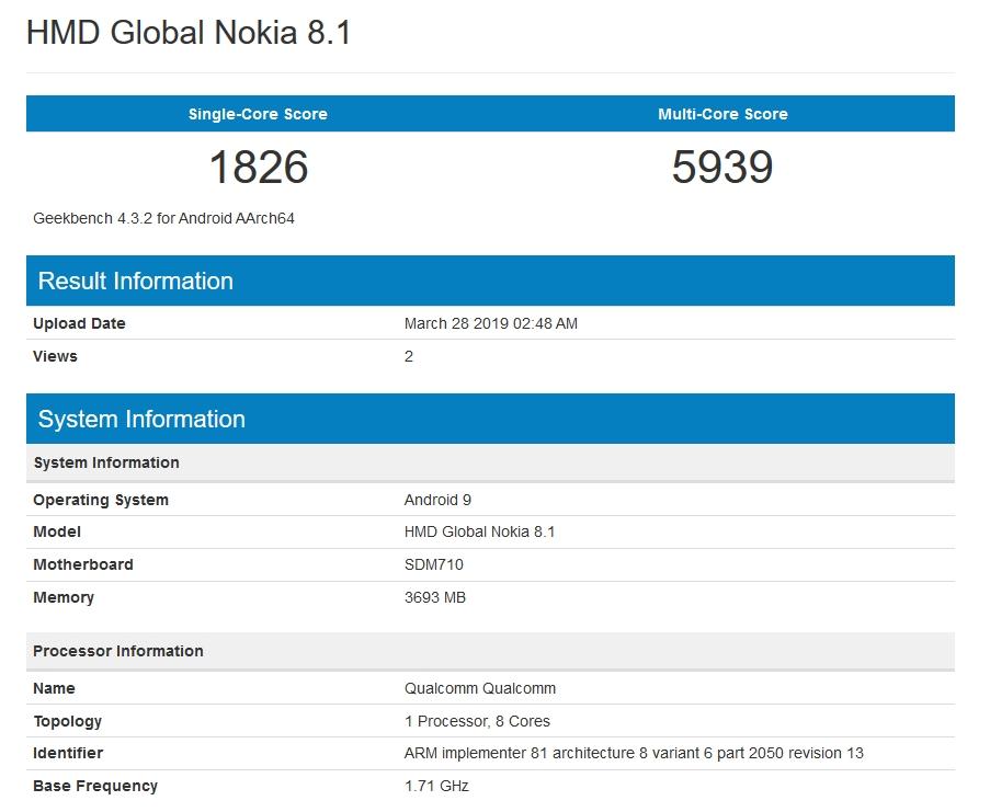 Nokia 8 1 Benchmark