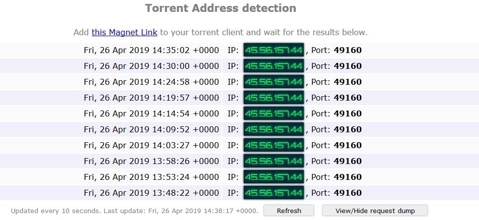 torrent address detection