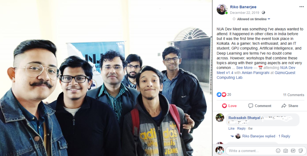 NUA Dev Meet Kolkata