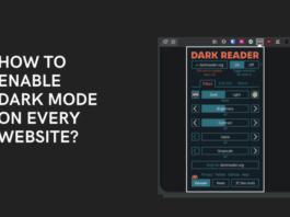 Dark Mode Website